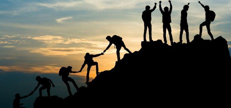 Erfolg, auf dem zum Gipfel