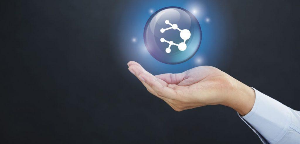 Atom in der Hand